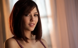 Brunettes women brown eyes cassie laine wallpaper