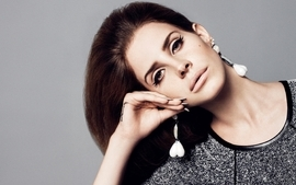 Brunettes women closeup singers faces lana del rey wallpaper