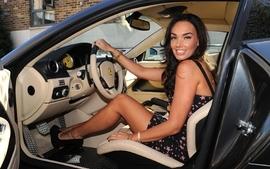 Brunettes women ferrari car interiors tamara ecclestone ferrari wallpaper