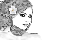 Brunettes women flowers green eyes artwork faces wallpaper