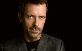 Brunettes women men people hugh laurie actors faces black wallpaper