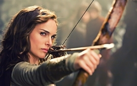 Brunettes women natalie portman your highness archery bow and wallpaper