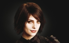 Brunettes women twilight actress short hair yellow eyes ashley wallpaper