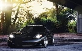 Cars chevrolet corvette black cars wallpaper