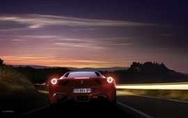 Cars ferrari ferrari 458 italia lights on rear view ferrari 458 wallpaper