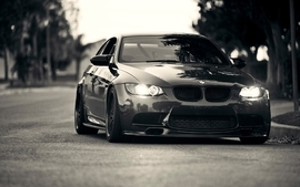 Cars grayscale roads bmw m3 wallpaper