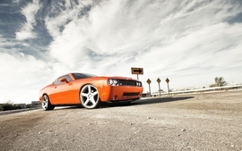 Cars muscle cars usa chevrolet roads rims skyscapes wallpaper