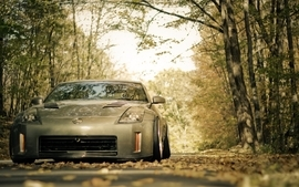 Cars nissan nissan 350z depth of field tuned nissan fairlady z33 wallpaper