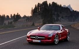 Cars roads vehicles mercedes benz red cars mercedes benz sls amg wallpaper