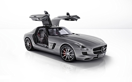 Cars studio supercars silver cars sls amg butterfly doors wallpaper