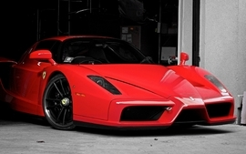 Cars supercars ferrari enzo garages wallpaper