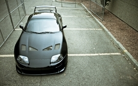 Cars tuning toyota supra parking lot black cars wallpaper