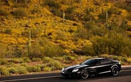 Cars vehicles black cars mercedesbenz mercedesbenz slr mclaren wallpaper