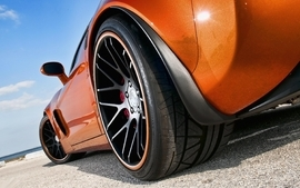 Cars vehicles chevrolet corvette orange cars wallpaper