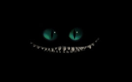 Cartoons eyes alice in wonderland teeth cheshire cat black wallpaper