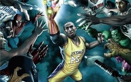 Cartoons sports basketball kobe bryant los angeles lakers wallpaper