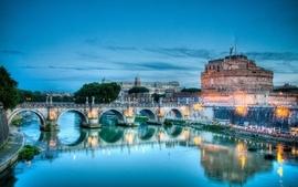 Castles bridges hdr photography wallpaper