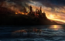 Castles fantasy art artwork hogwarts wallpaper
