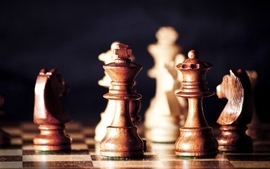 Chess macro chess pieces wallpaper