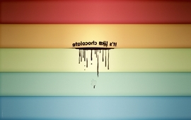 Chocolate rainbows wallpaper