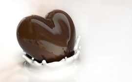 Chocolate seed hearts wallpaper