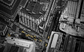 Cityscapes architecture people buildings taxi birds eye wallpaper