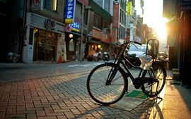 Cityscapes bicycles buildings korea south asia cities wallpaper