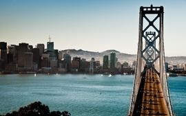 Cityscapes bridges buildings wallpaper