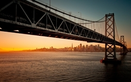 Cityscapes bridges san francisco oakland bay wallpaper