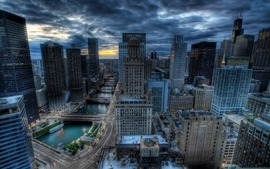 Cityscapes chicago hdr photography wallpaper
