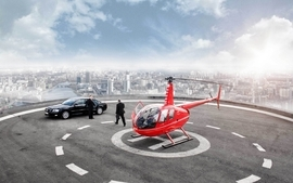 Cityscapes helicopters vehicles limousines skyscapes wallpaper