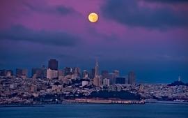 Cityscapes moon san francisco wallpaper