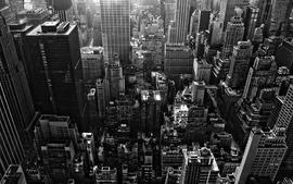 Cityscapes new york city monochrome greyscale wallpaper