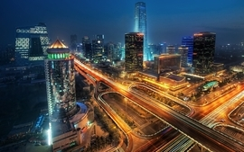 Cityscapes night beijing long exposure hdr photography wallpaper