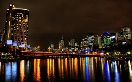 Cityscapes night bridges wallpaper