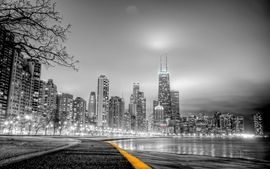Cityscapes skylines gray wallpaper