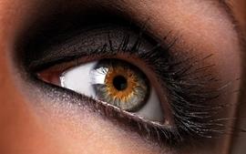 Closeup brown eyes macro makeup eye makeup wallpaper