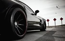 Closeup cars vehicles luxury sport cars black cars lowangle shot wallpaper