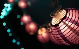 Closeup china lanterns lamps macro red light wallpaper