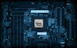 Closeup motherboard chip intel science fiction wallpaper