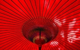 Closeup red lines umbrellas vibrant wallpaper