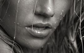Closeup wet lips grayscale monochrome macro noses faces juliane wallpaper