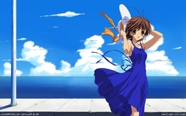 Clouds beach clannad clannad after story anime anime girls wallpaper