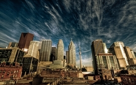 Clouds cityscapes buildings toronto hdr photography skyscapes wallpaper