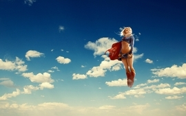 Clouds dc comics supergirl wallpaper
