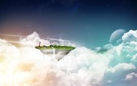 Clouds fantasy art wallpaper
