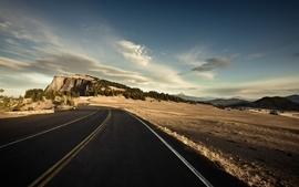 Clouds landscapes nature cliff roads wallpaper