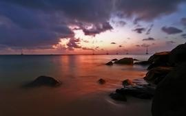 Clouds landscapes nature coast rocks oceans wallpaper