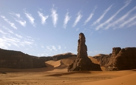 Clouds landscapes nature sand desert skyscapes view wallpaper