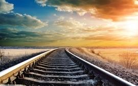 Clouds landscapes railroads wallpaper
